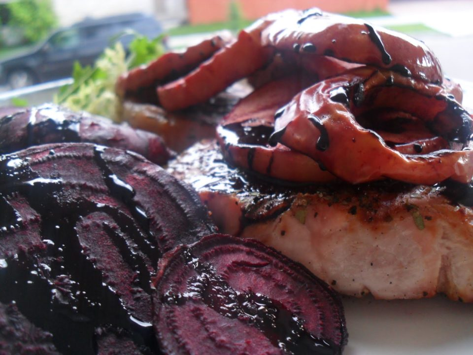 pork chops and beets2