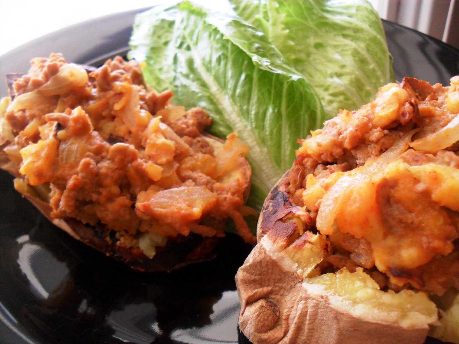 Loaded Turkey Stuffed Twice Baked Sweet Potatoes Paleomg