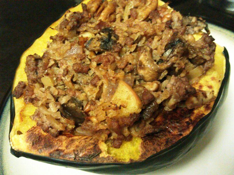 Beef + Mushroom Stuffed Acorn Squash Recipes — Dishmaps