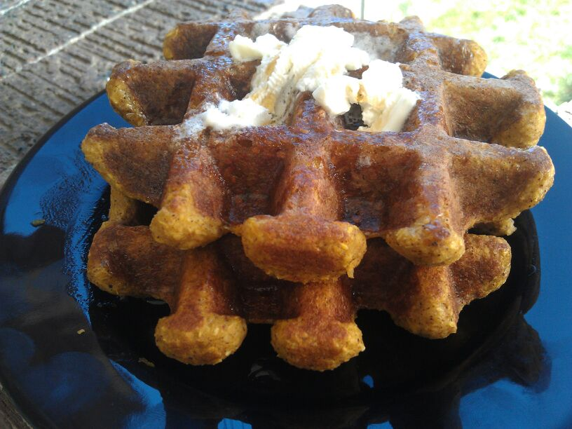 pumpkin waffles 3
