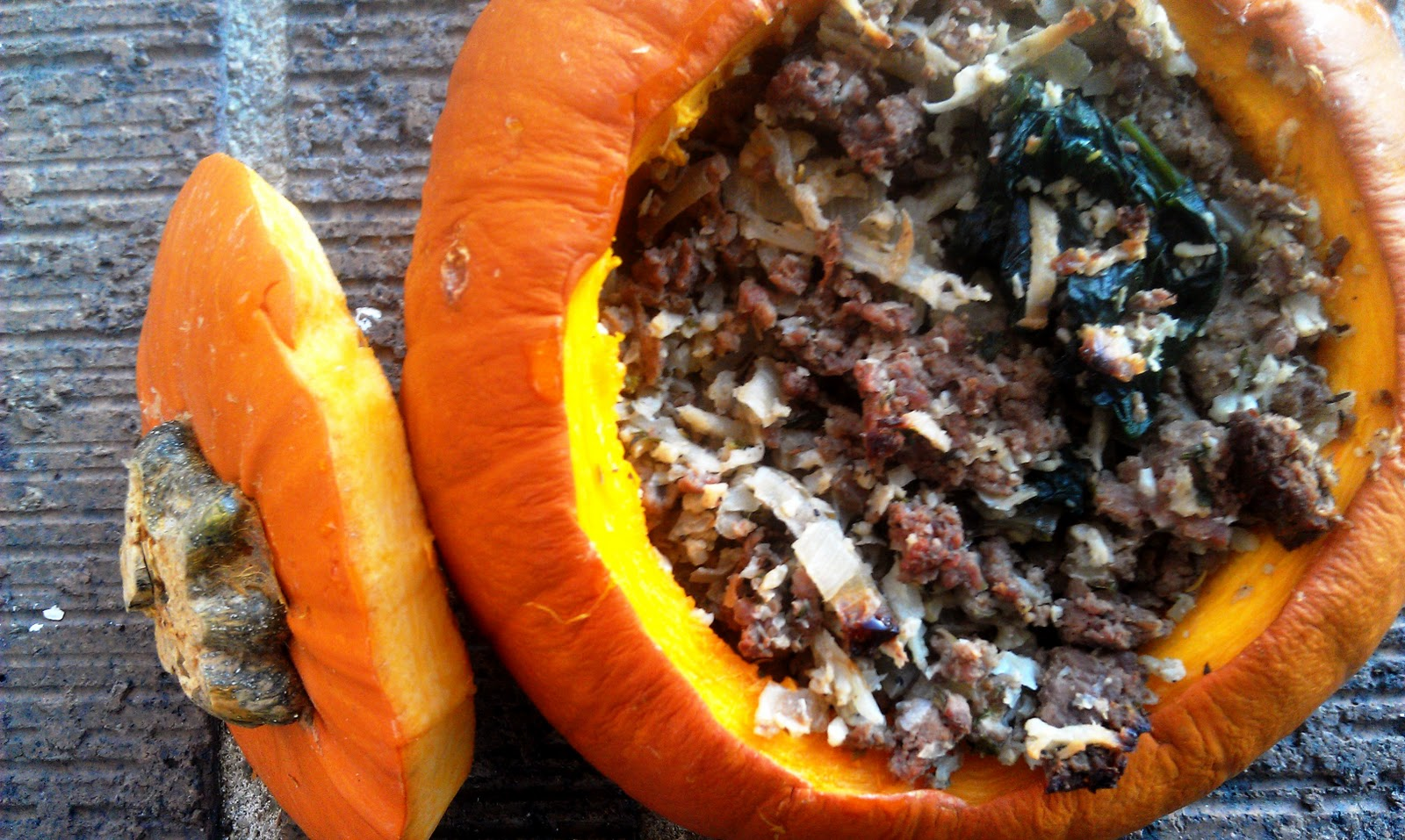 Meaty Rice Stuffed Pumpkins |