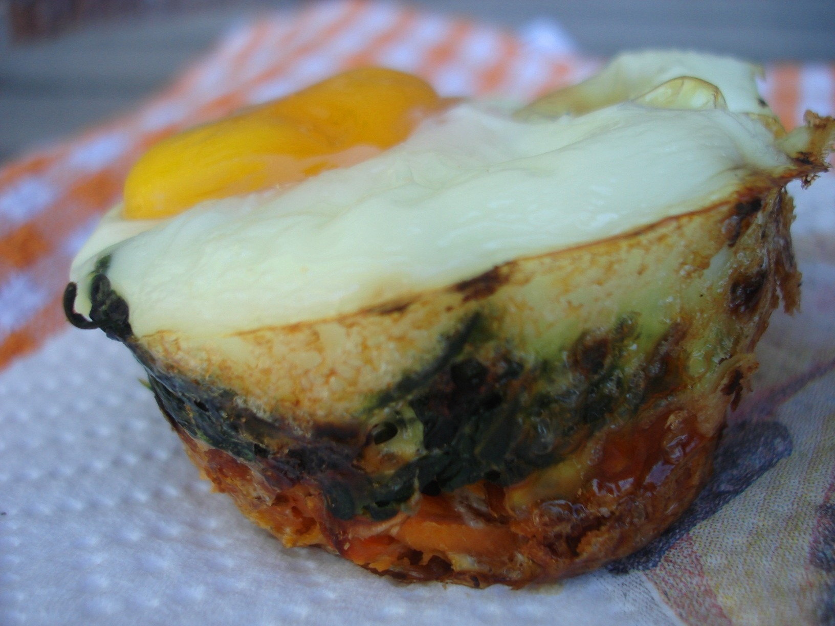Spinach Sweet Potato Egg Nests |