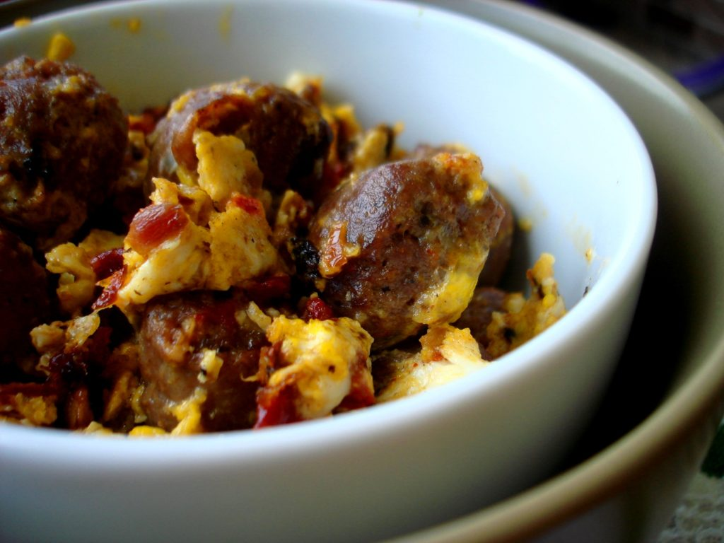 PaleOMG Bison Brat Breakfast Scramble