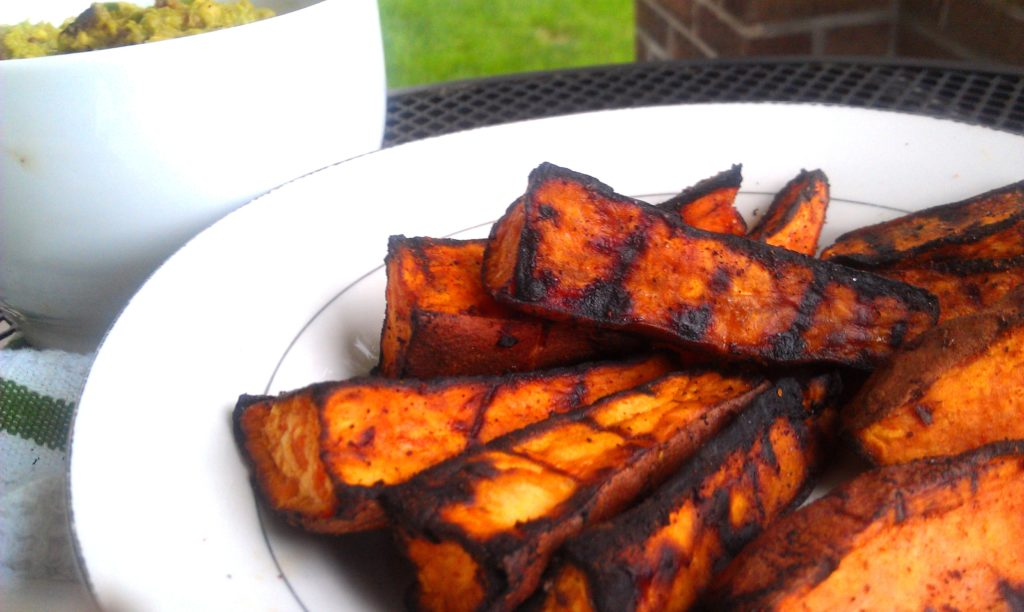 Grilled Chili-Lime Sweet Potato Wedges |