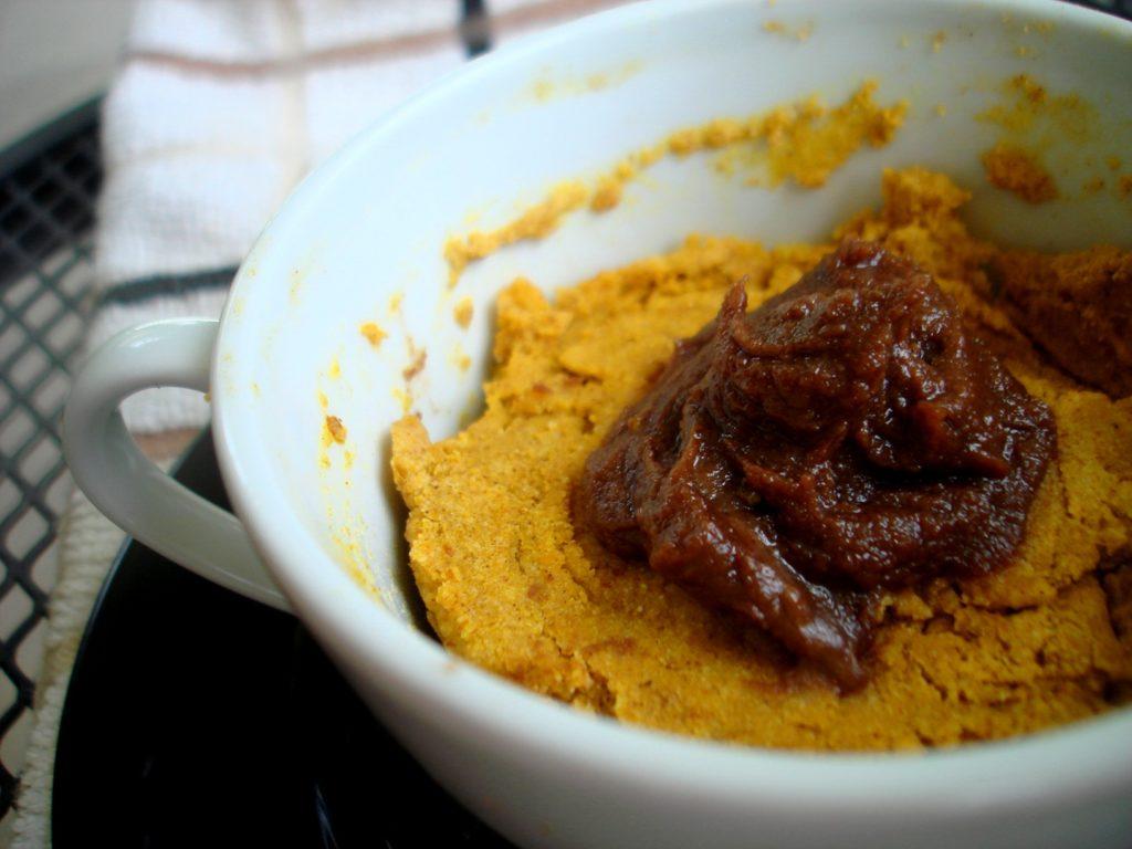 PaleOMG Sugar Detox Pumpkin Cake in a Mug with Chocolate Whip