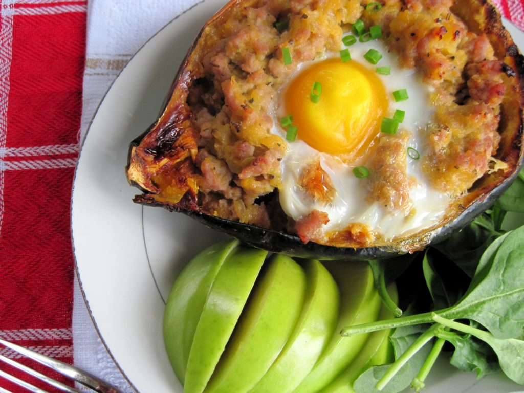 PaleOMG Breakfast Stuffed Acorn Squash