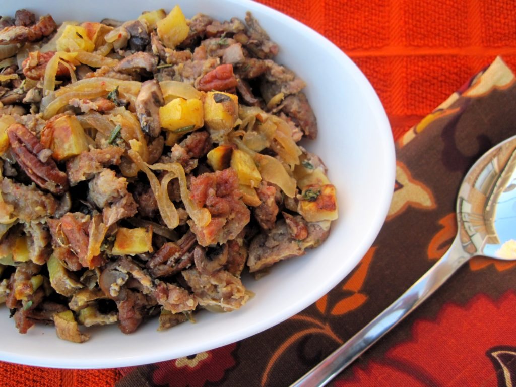 PaleOMG Caramelized Onion Sausage Stuffing