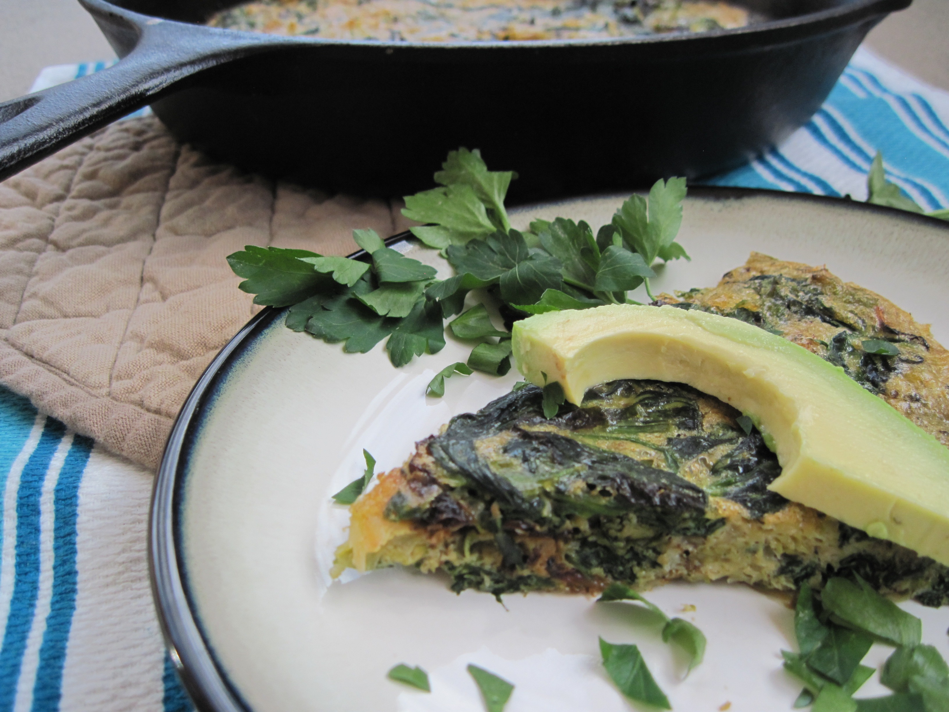PaleOMG Brussels Sprouts and Spinach Truffle Frittata