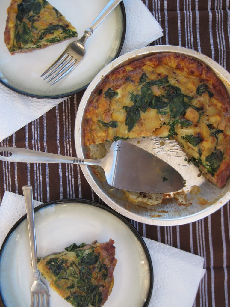 PaleOMG Meat Crust Quiche