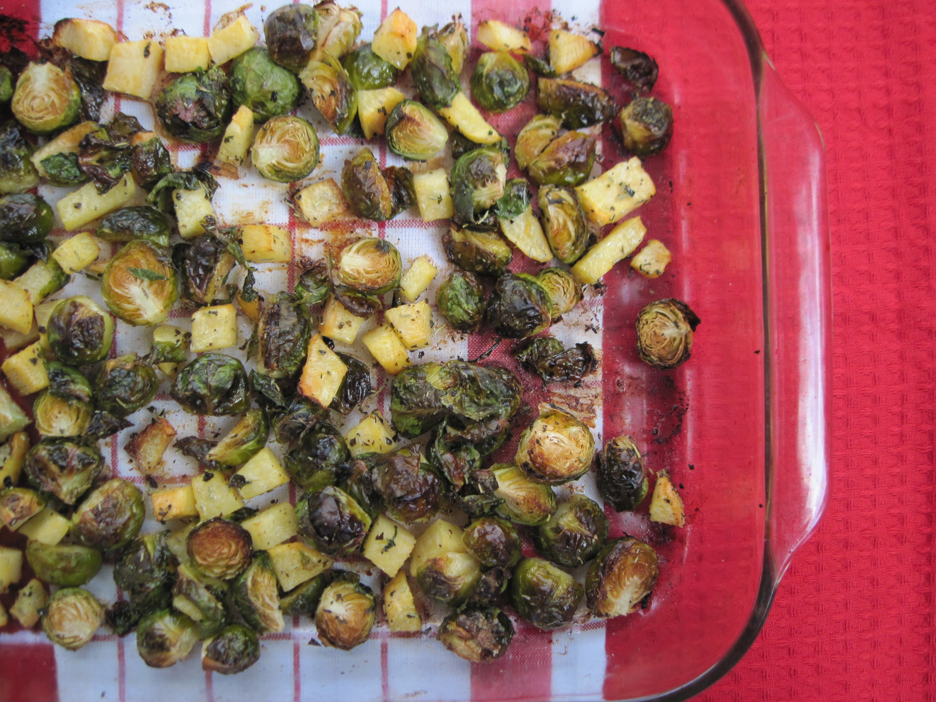 PaleOMG Roasted Rosemary Brussels & Rutabaga