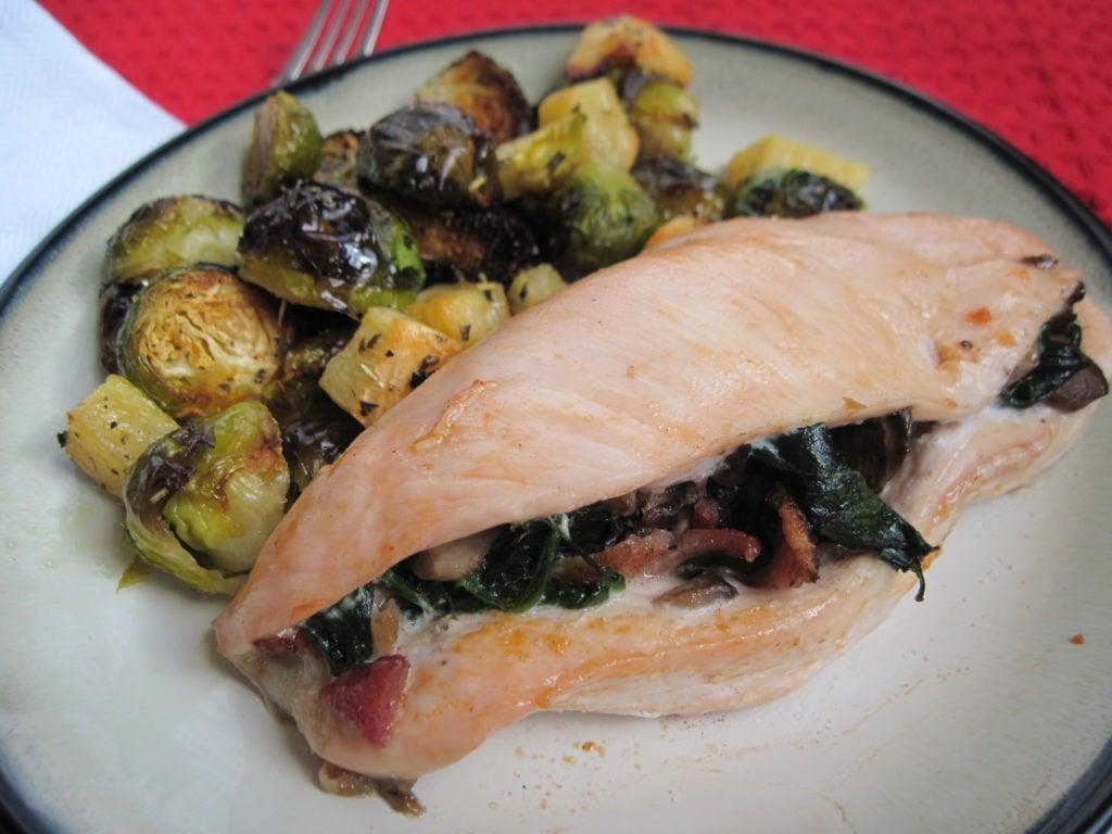 PaleOMG Bacon & Spinach Stuffed Chicken