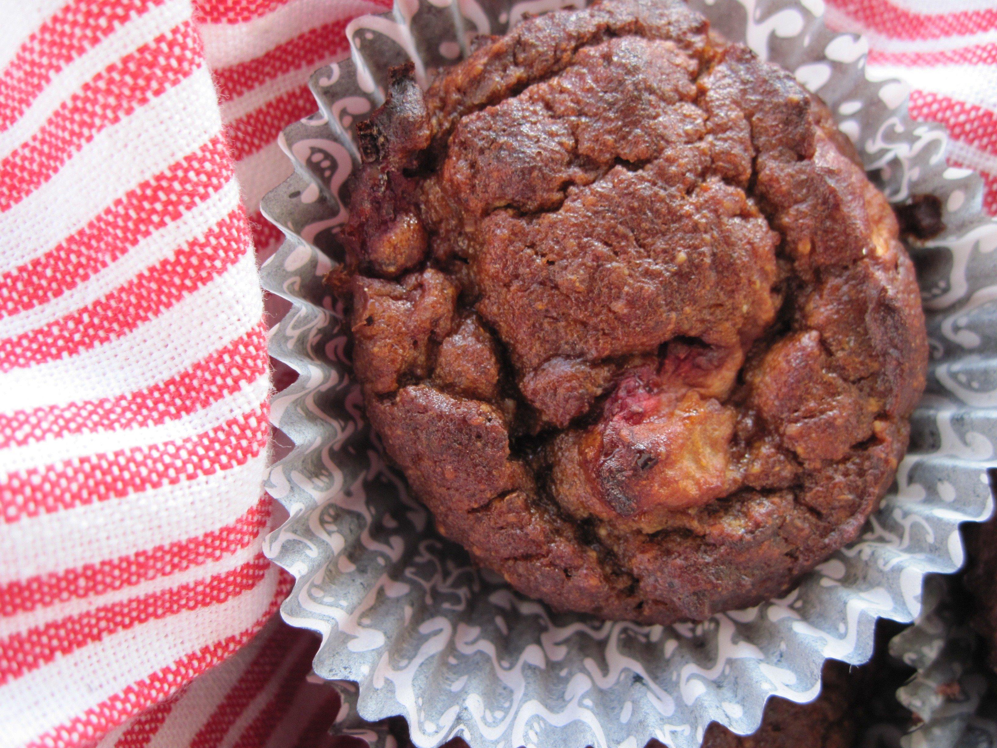 PaleOMG Strawberry Banana Chocolate Chip Muffins