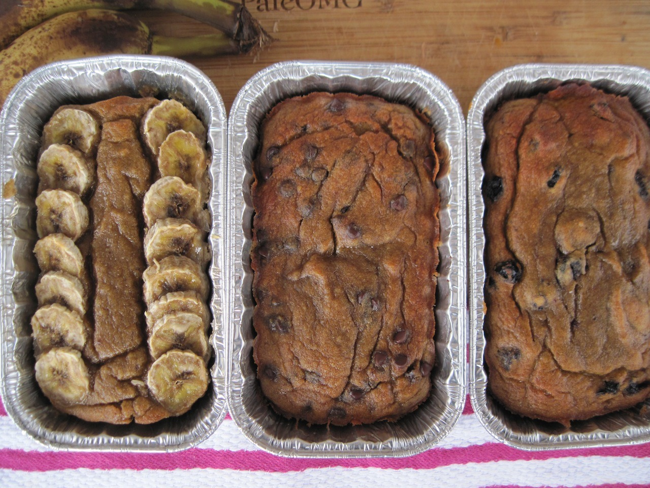 PaleOMG Banana Bread 3 Ways (nut free)