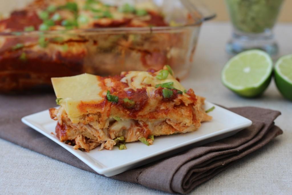 PaleOMG Chicken Enchilada Lasagna