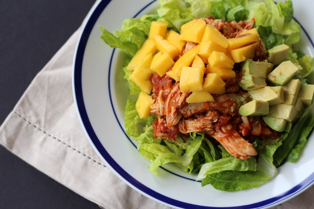 PaleOMG Enchilada Chicken Mango Salad