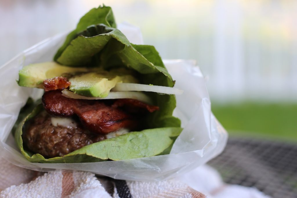 PaleOMG 4th of July Triple Protein Burgers