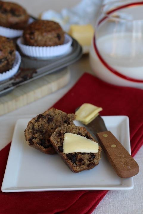 PaleOMG Chocolate Chip Protein Muffins