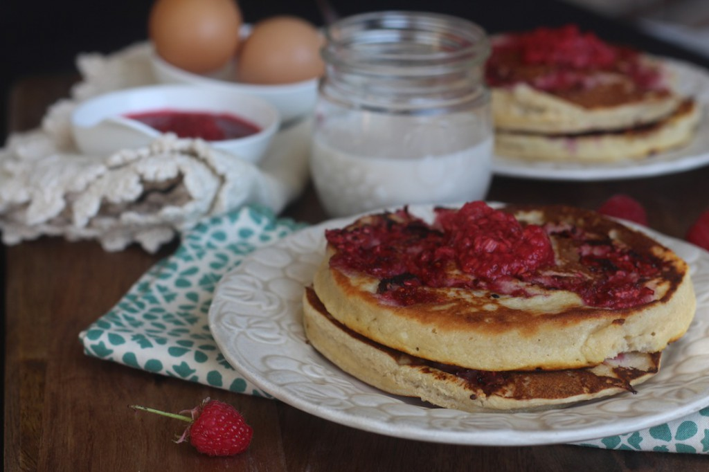 PaleOMG Lemon Raspberry Pancakes