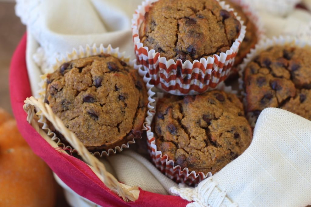 PaleOMG Pumpkin Chocolate Chip Muffins