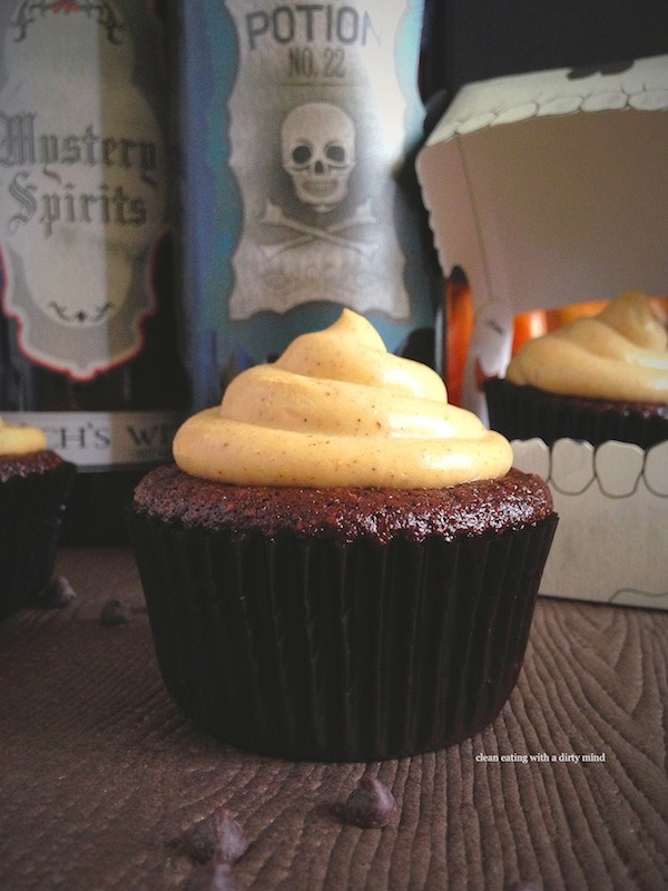 PaleOMG Guest Post: Paleo Chocolate Cupcakes with Pumpkin Spice Frosting