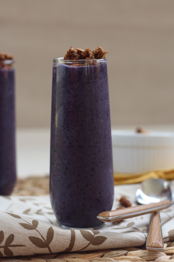 PaleOMG Blueberry Chai Granola Smoothies