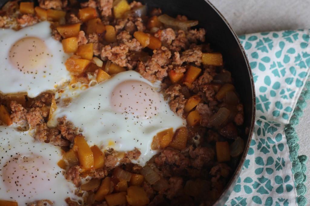 PaleOMG Chorizo Butternut Squash Hash