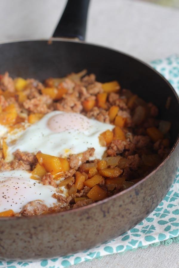 PaleOMG Simple Chorizo Butternut Squash Hash