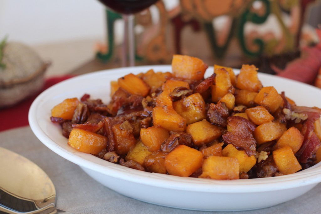 PaleOMG Maple Bacon Pecan Roasted Butternut Squash