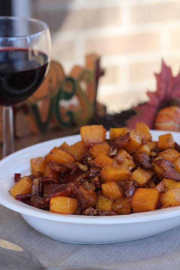 PaleOMG Thanksgiving Side Dish Maple Bacon Pecan Roasted Butternut Squash