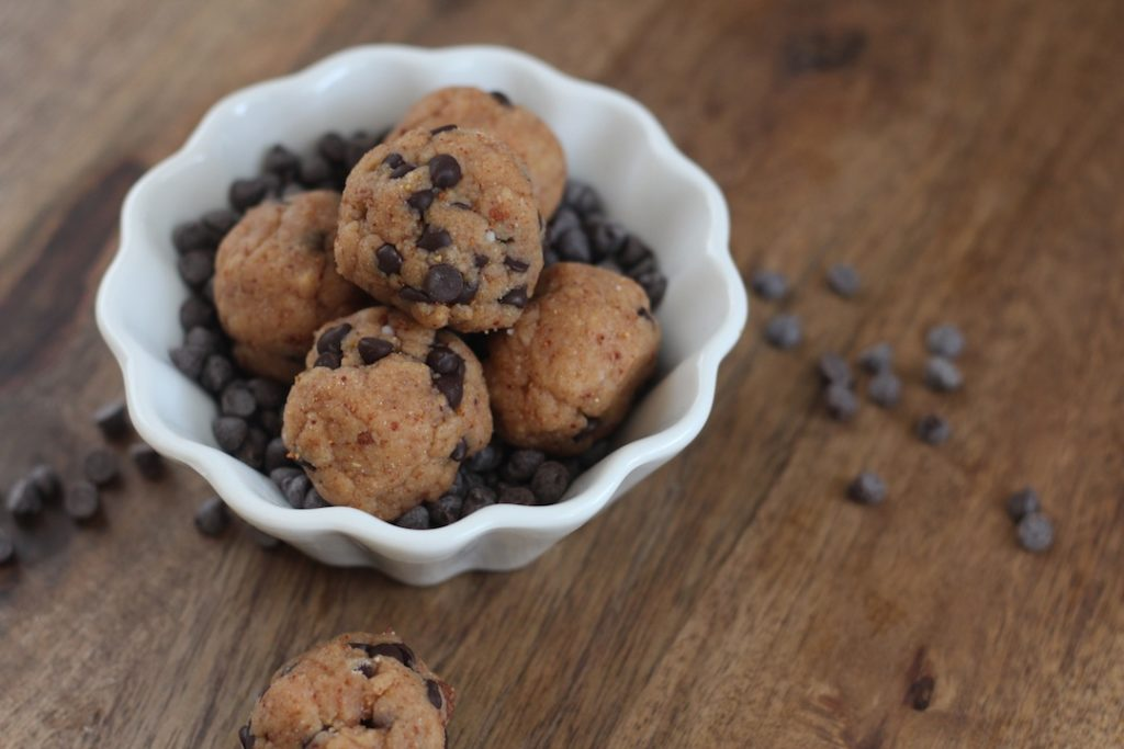 PaleOMG Snack Attack: Chocolate Chip Cookie Dough Protein Balls