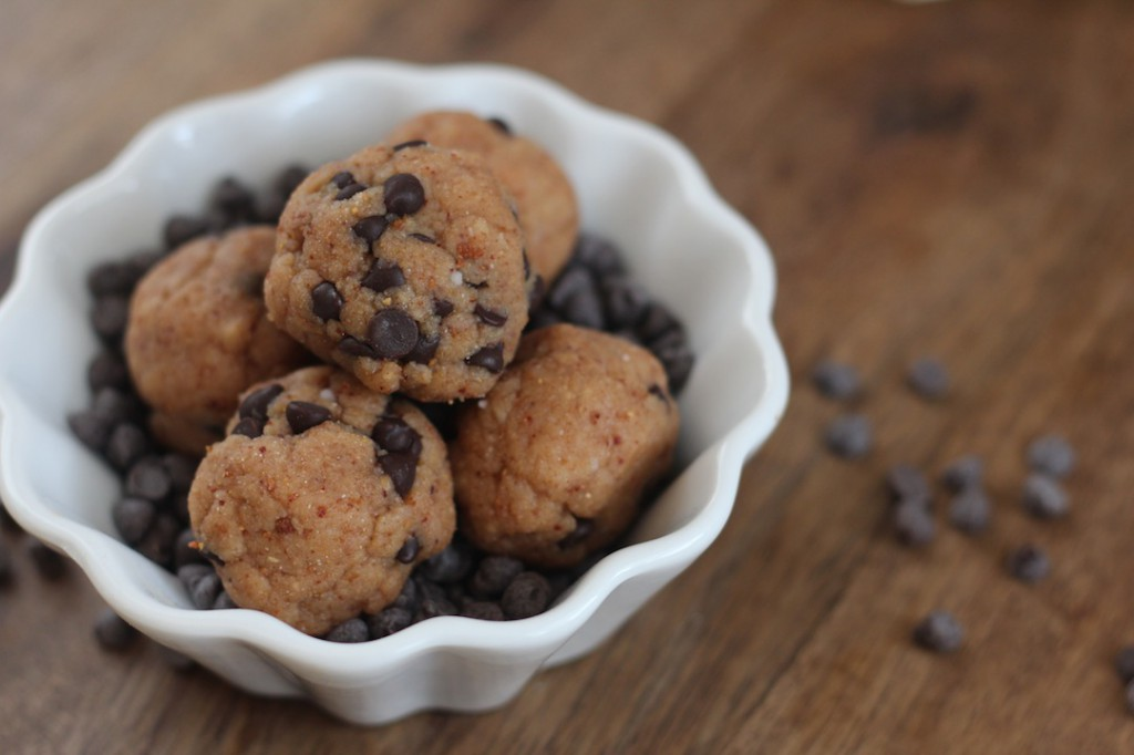 PaleOMG Chocolate Chip Cookie Dough Protein Balls