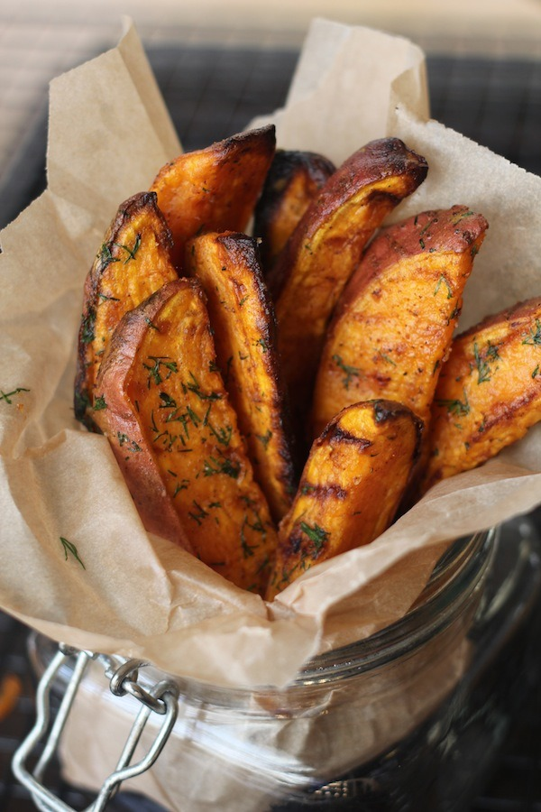 PaleOMG Snack Attack: Garlic Dill Sweet Potato Wedges
