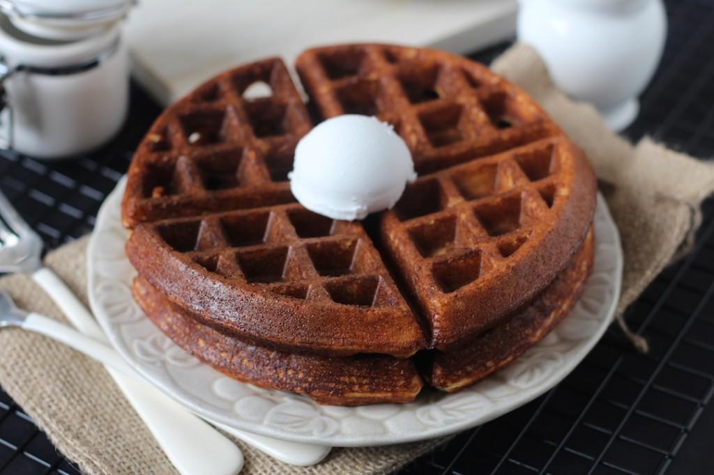 PaleOMG Light and Crispy Vanilla Protein Waffles