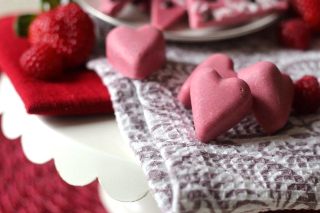 PaleOMG Strawberry Raspberry Milkshake Fudge Hearts