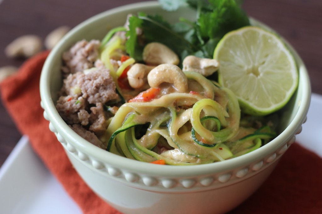 "PaleOMG Asian ""Peanut"" Sauce Noodle Bowl"