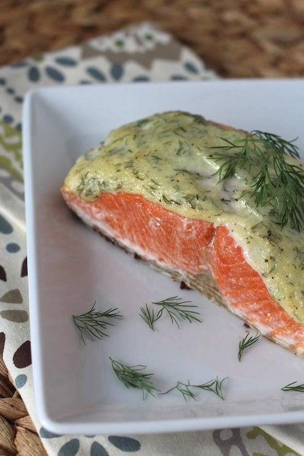 PaleOMG 5 Ingredient 10 Minute Creamy Dill Salmon