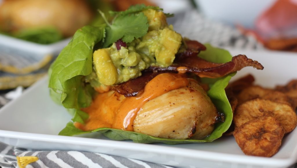 Citrus Marinated Chicken Lettuce Wraps with Chipotle Mayo and Pineapple Guac_2