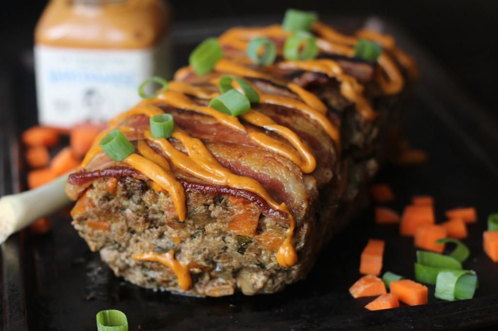 PaleOMG Bacon Chorizo Chipotle Smothered Meatloaf