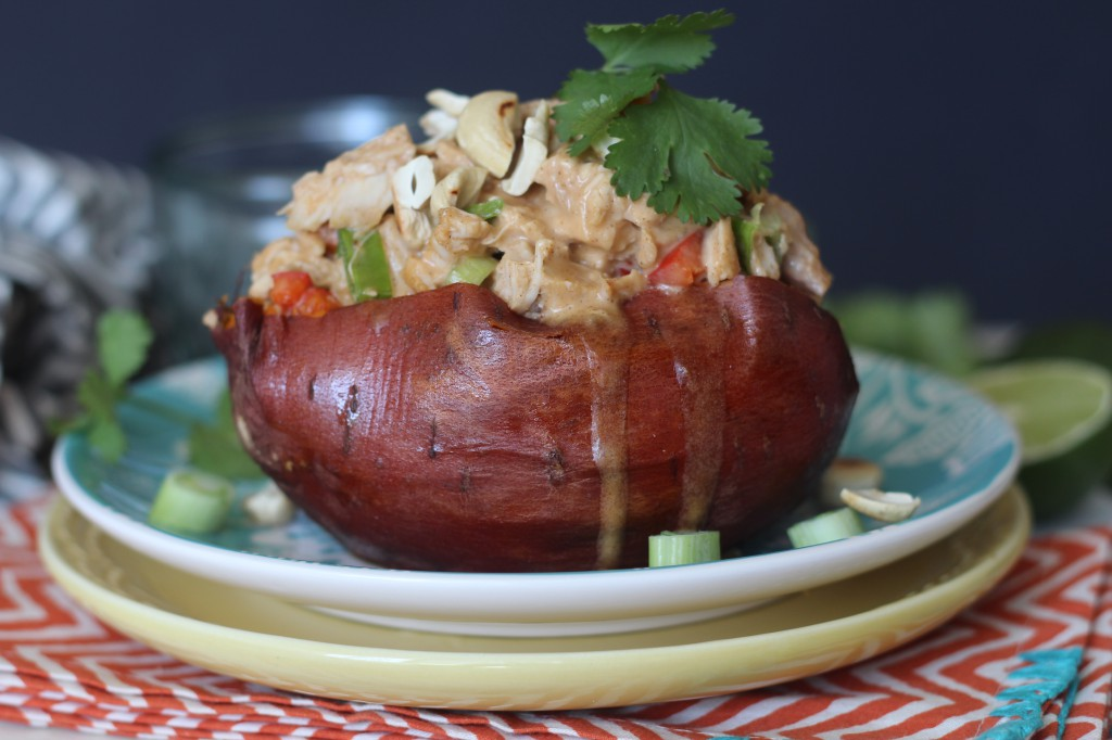 PaleOMG Thai Chicken Stuffed Sweet Potatoes