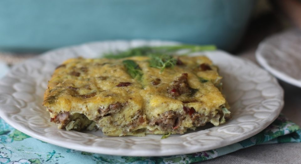 PaleOMG Dill, Leek and Sausage Breakfast Casserole_1