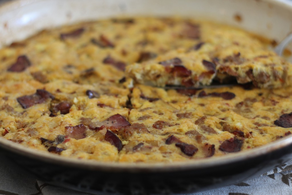 PaleOMG Bacon Potato Sausage Frittata