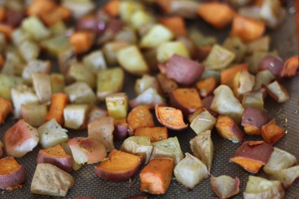 PaleOMG Rosemary Roasted Apples & Sweet Potatoes