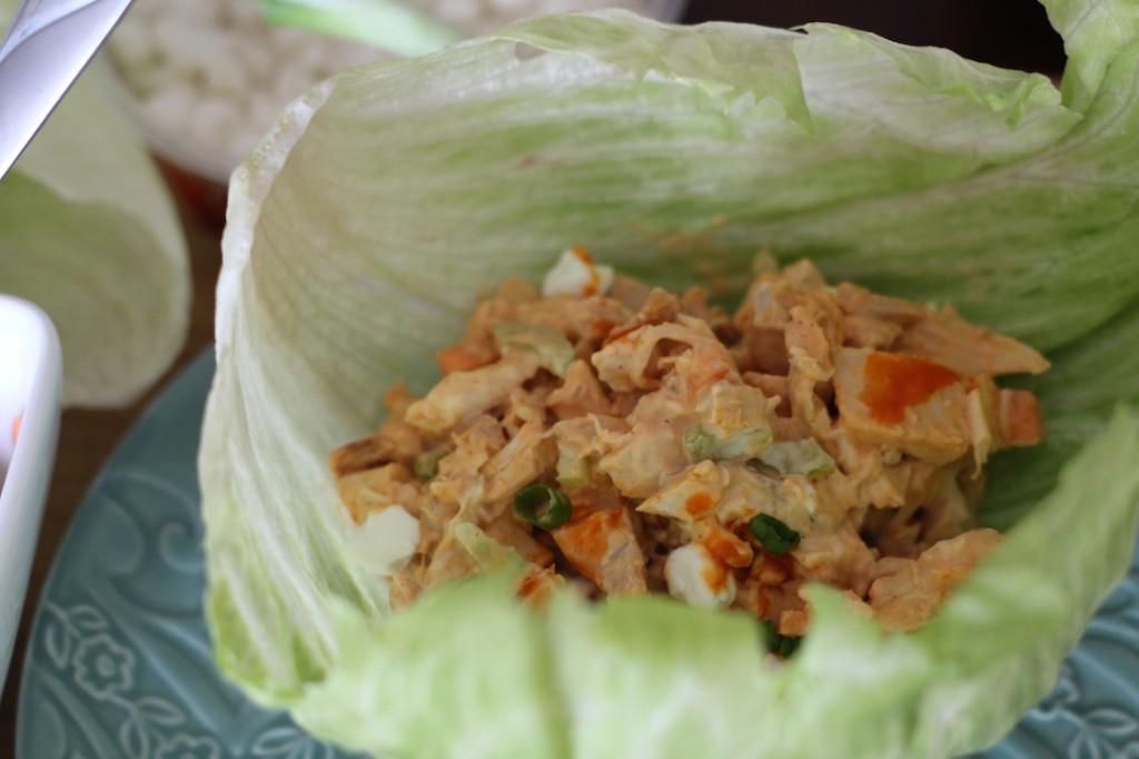 PaleOMG Buffalo Chicken Salad Lettuce Cups