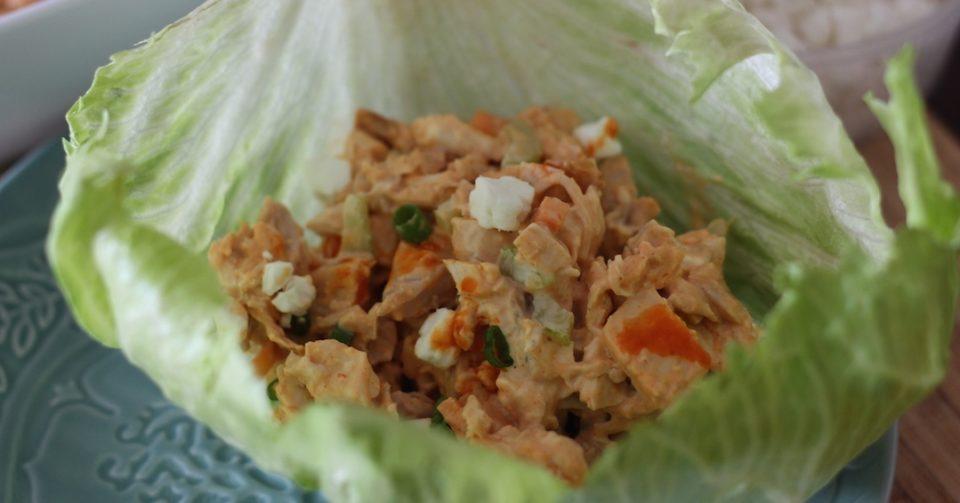 PaleOMG Buffalo Chicken Salad Lettuce Cups_1