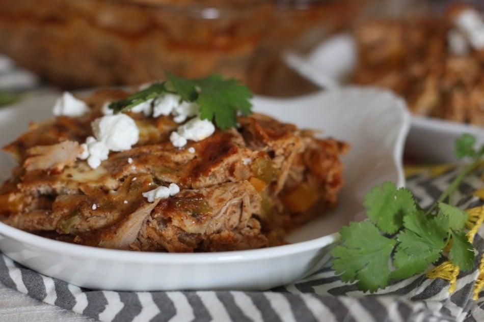 PaleOMG Chicken Enchilada Bake