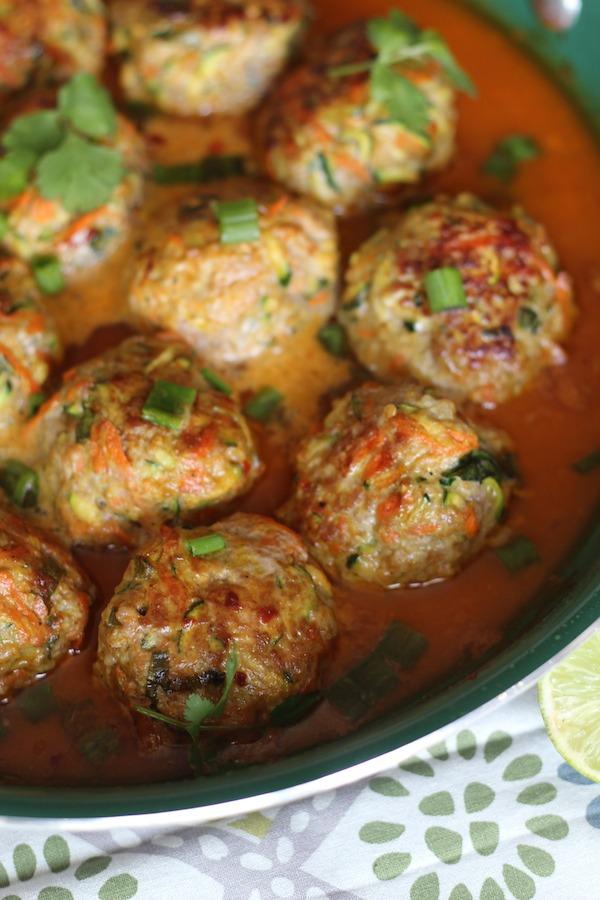 PaleOMG Thai Pork Veggie Meatballs