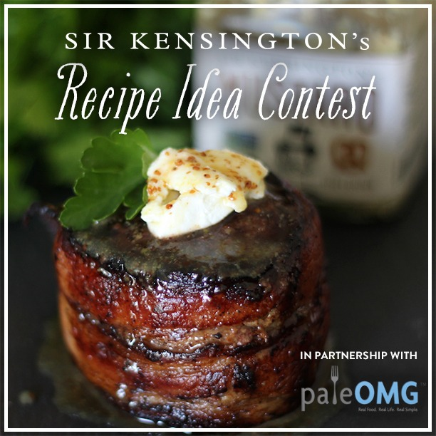 PaleOMG Honey Mustard Bacon Wrapped Filet Mignon + Sir Kensington's Giveaway