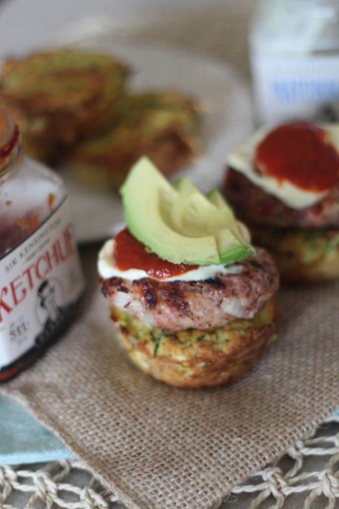 PaleOMG Grilled Mustard Sliders on top of Fritter Cups