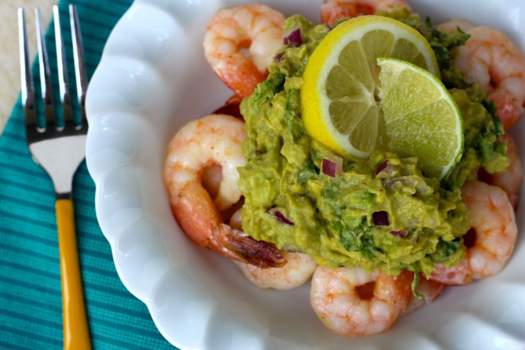 PaleOMG Shrimp with Citrus Avocado Mash