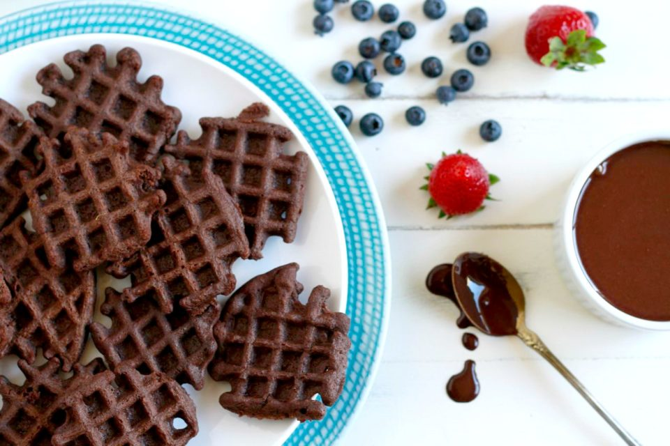 Mini Chocolate Waffles ~  savorylotus
